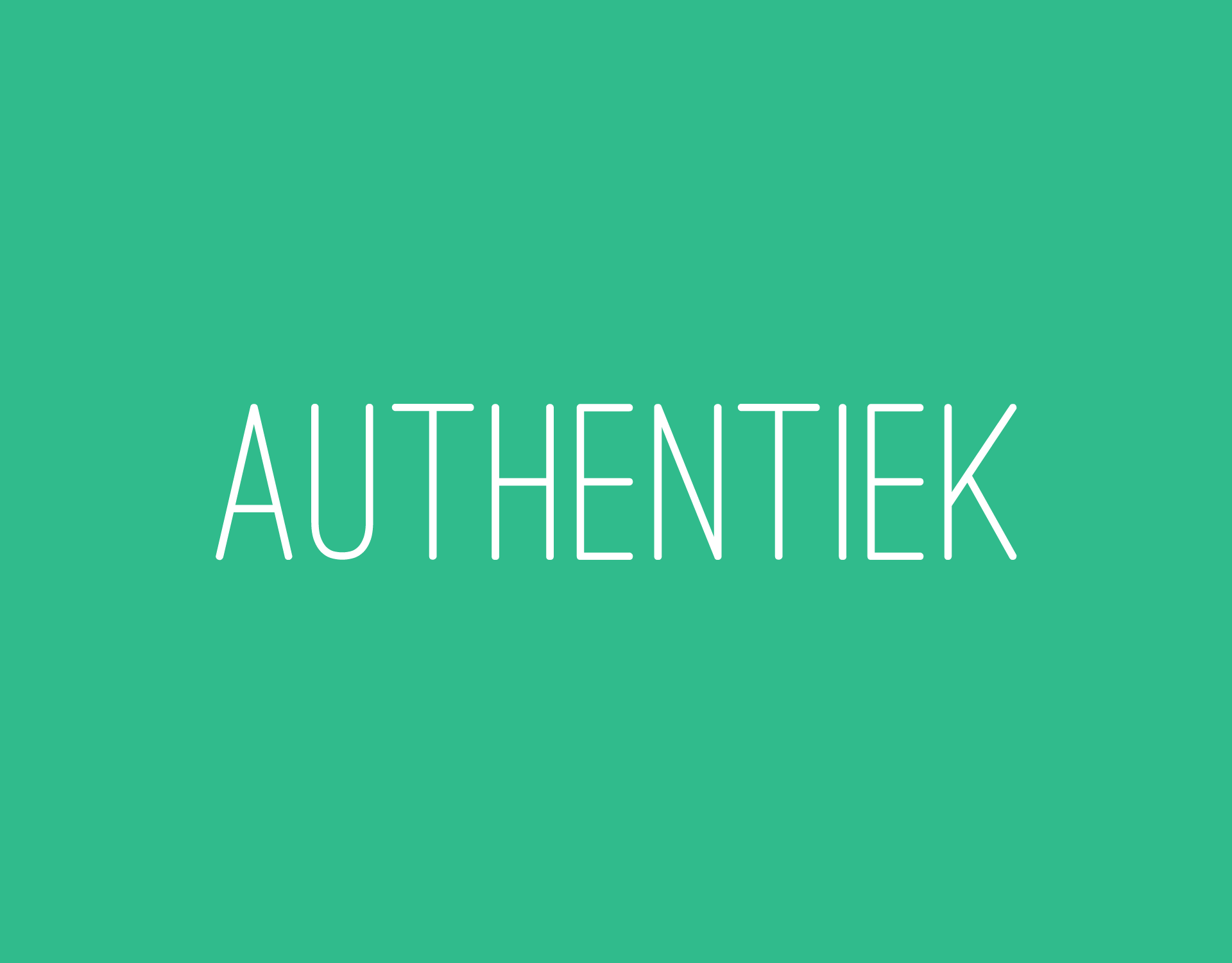 authenthiek